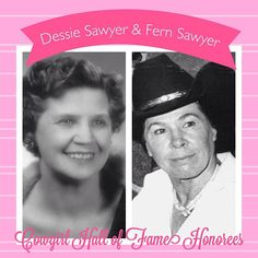 Mother/Daughter Cowgirl Hall of Fame Honorees, Dessie and Fern Sawyer.