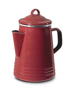 "Paula Deen Stovetop Percolator, Red: ""I have always said the heart of the home is in the kitchen. No kitchen would be complete without a nostalgic percolator. You can spend hours upon hours with a good cup of coffee and a cherished friend. Coffee And Espresso Maker, Best Espresso Machine, Best Coffee Maker, Coffee Cups, Stovetop Coffee Percolator, Coffee Maker Reviews, Red Kitchen, Kitchen Redo, Kitchen Stuff"