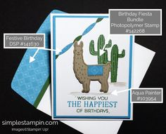 Stampin' Up! Birthday Fiesta Bundle, Stampin' Up! Birthday Card, Fetive Birthday DSP, Susan Itell - stampinup