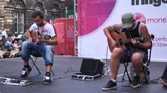 The Showhawk Duo Busking Edinburgh Fringe 2014