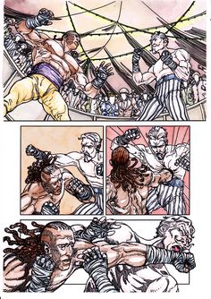 Page 4 of Victorian Bareknuckle League. Written by Carl Jackson. Art by Jake Bilbao. Colour by Pika. Please support on kickstarter. kck.st/1O1znHh