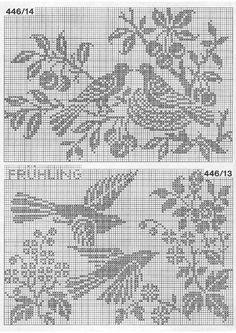 "Photo from album ""Burda special 1979 FRA Dentelles filet"" on Yandex. Cross Stitch Sampler Patterns, Needlepoint Stitches, Cross Stitch Samplers, Cross Stitch Charts, Cross Stitch Embroidery, Crochet Stitches, Crochet Birds, Crochet Cross, Crochet Chart"