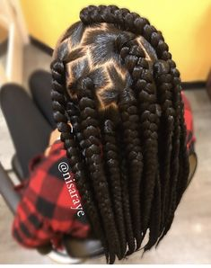 Braids With Bead Embellishments - 40 Best Big Box Braids Hairstyles Blonde Box Braids, Black Girl Braids, Braids For Black Hair, Girls Braids, Box Braids For Kids, Braids For Black Women Box, Hair Girls, Black Girls Hairstyles, African Hairstyles