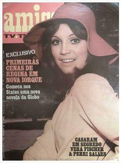 REVISTA AMIGA - 1973 - na capa a atriz REGINA DUARTE - a cecilia da novela CARINHOSO da Rede Globo