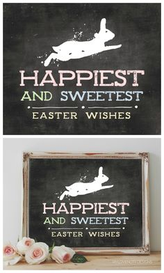 Happiest and Sweetest Easter Wishes | Free Easter Printable Art