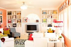 My moms family room. All her color makes me ha-happy!