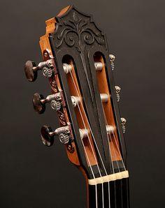 Christian Koehn Guitars Flamenca Negra Custom headstock