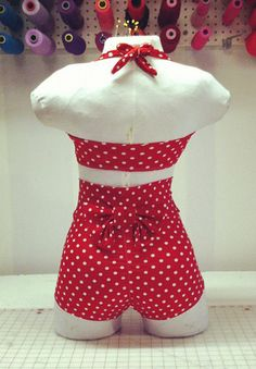 DelilahTwo Piece High Waist Swimsuit. $100.00, via Etsy.