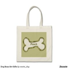 Dog Bone Art Gifts Budget Tote Bag