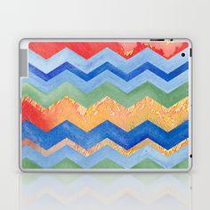 Watercolor Chevron Happiness Laptop & iPad Skin