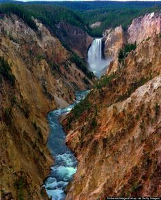 This is the Grand Canyon of the Yellowstone... and it's pretty fantastic.