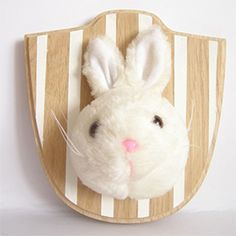 Upcycle old toys to make faux taxidermy for your nursery! (in Croatian) -- or your regular adult room!