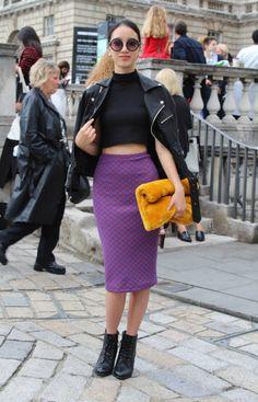 Nao wears: Shades: Topshop, Bag: Topshop, Jacket: Unif, Skirt: American Apparel, Top: American Apparel, Shoes: Vintage
