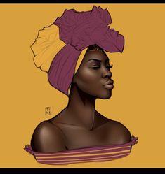 African, african fashion, and art image Black Love Art, Black Girl Art, Black Is Beautiful, Black Girl Magic, Art Girl, Black Art Painting, Black Artwork, African Girl, African American Art
