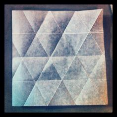 Triangle folded tessellation