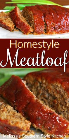 Homestyle comfort food is what this Delicious meatloaf is all about. The sweet tomato glaze turns leftovers into a mouthwatering meatloaf sandwich, too. Southern Meatloaf Recipe, Beef Meatloaf Recipes, Classic Meatloaf Recipe, Best Meatloaf, Southern Recipes, Meat Recipes, Cooking Recipes, Soul Food Recipes, Salads