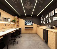 Best Modern Office Interior Design Desk Setup Ideas Inspiration Ergonomic Concept – Home Office Design Layout Interior Design Chicago, Interior Design Software, Office Interior Design, Office Interiors, Design Desk, Interior Modern, Garage Office, Home Office Setup, Desk Setup
