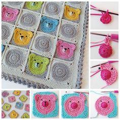 DIY Adorable Crochet Teddy Bear Baby Blanket