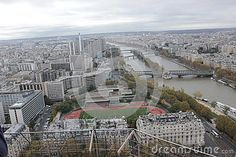 A view from the top of eiffel tower