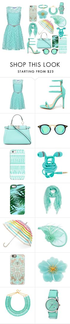 """""""Under The Water"""" by very-berry-fashionista ❤ liked on Polyvore featuring 22 Maggio, Liliana, Fendi, Casetify, Rianna Phillips, Caslon, Kate Spade, Carolee, BaubleBar and Crayo"""