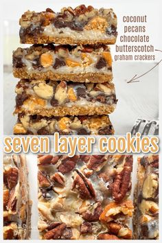 These magic bar cookies are incredible! So easy to make, you will love how delicious this seven-layer cookie recipe is! Recipes Using Fruit, Fun Easy Recipes, Healthy Dessert Recipes, Sweets Recipes, Easy Desserts, Baking Recipes, Cookie Recipes, Delicious Desserts, Vegetarian Snacks