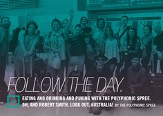 Follow The Day. Central Track, Robert Smith, Drinking, Tours, Australia, Day, Movies, Movie Posters, Drinks