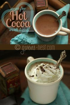 FINALLY! A sugar free hot cocoa that's worth loving- Can be df/sf/ef! (Sub cream for butter-delish!!)