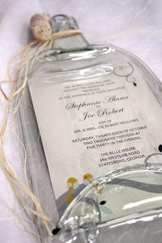 Melted Wine Bottle with Keepsake Wedding by CreativeChameleon