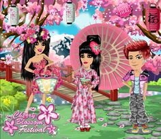 Cherry Blossom theme #moviestarplanet #MSP www.moviestarplanet.com