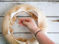 One Skein Crochet Wreath Base
