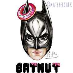 Batnut #marvel #art #dccomics #ironman #batman #captainamerica #avengers #sweet #darwing #katebelchik #belkashop #icecream #donut #pizza