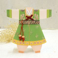 Korean hanbok card but could adapt for any ethnical culture