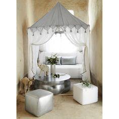 Banquette 2/3 places fixe cuir blanc HAMMAM | Maisons du Monde
