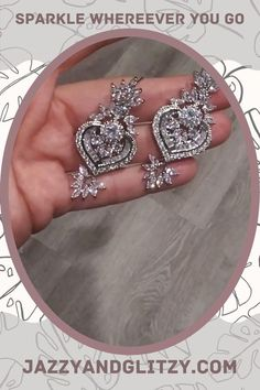 They're the perfect addition to your bridal or weekend GNO look! Art Deco Earrings, Bridal Earrings, Bridal Jewelry, Rose Gold Wedding Jewelry, Vintage Wedding Jewelry, Art Deco Chandelier, Chandelier Earrings, Swarovski Pearls, Matching Necklaces
