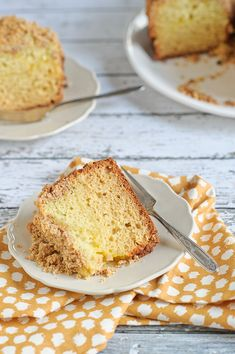 A recipe for Meyer Lemon Coffee Cake with Almond Streusel.