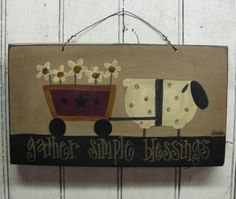 Sheep and Flower Cart Painting