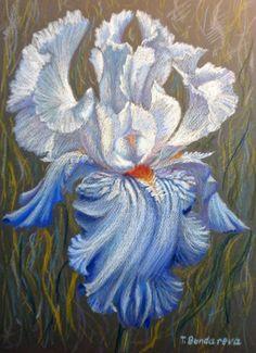 "Items similar to Original oil pastel drawing ""Blue Iris"" on Etsy Pastel Flowers, Iris Flowers, Pastel Art, Oil Pastel Drawings, Colorful Drawings, Oil Pastel Techniques, Iris Art, Iris Painting, Muse Art"