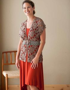 crochet motif tunic