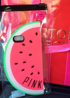 2014 Pink Victoria's Secret Watermelon Cover Case Cell Phone iPhone 5 5S 5c…