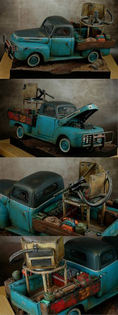 In the case of a Zombie Apocalypse, this plastic model truck is a good prototype that many may want to consider @ http://www.hobbylinc.com/index.html