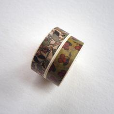 Cute Washi Masking Tape Roll - Nature Masking Tape, Washi Tape, Class Ring, Cuff Bracelets, Rolls, Japanese, Nature, Cute, Duct Tape