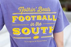 Purple with Gold Football in the South