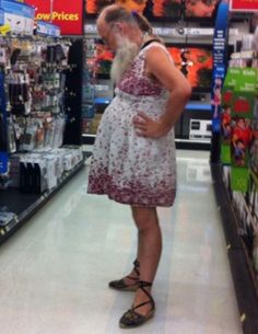 Grandpa Dresses Up for Shopping at Walmart - Funny Pictures at Walmart http://ibeebz.com