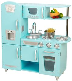 KidKraft Vintage Kitchen Blue - Best Price I love the way this looks