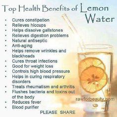Lemon water - my new morning beverage!!