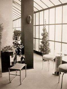 "Charlotte Perriand ""1928 Dining Room"" Salon des Artistes Decorateurs Paris 1928 They say behind every great man there is an even greater woman...behind Le Corbusier"