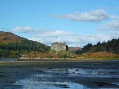 Castle Tioram at low tide Scottish Thistle, Scotland Travel, Outlander, Monument Valley, Castle, Castles, Palace