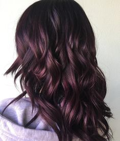 "🍆🍆🍆Eggplant🍆 🍆🍆 When a client misses vibrant violet hair, I will find every way to ""hide it"" so they can actually have it and keep their… Cabelo Rose Gold, Black Cherry Hair, Burgundy Hair, Subtle Purple Hair, Violet Hair Colors, Rides Front, Chocolate Hair, Hair Color And Cut, Winter Hair Colour"