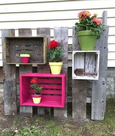 s 30 fun way to brighten up your backyard this summer, Turn crates into funky planter frames Recycled Light Bulbs, Porch Table, Psychedelic Colors, Up Balloons, Concrete Planters, Cement, Painted Pots, Glass Candle Holders, Fairy Lights