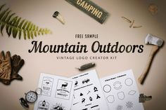 Make thousands of logos for mountain-related businesses with Free Vintage Logo Kit – Mountain Outdoor. Just edit text, slogan and your logo is done! Or you can use the elements to create your own concept. All logos are vector based. Powerpoint Template Free, Joomla Templates, Design Templates, Logo Templates, Badge Design, Logo Design, Graphic Design, Outdoor Logos, Make Your Own Logo